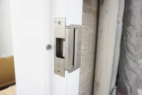 Locknetics Electric Strike Installed In Metal Door Frame